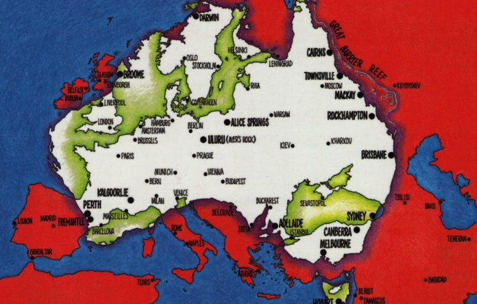 True Size Of Australia